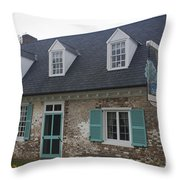 Cole Diggs House Yorktown Throw Pillow by Teresa Mucha