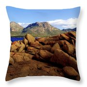 Coles Bay Colours Throw Pillow