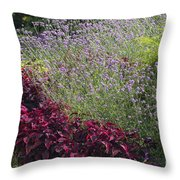 Coleus And Lavender Throw Pillow