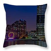 Colgate Clock Exchange Place  Throw Pillow