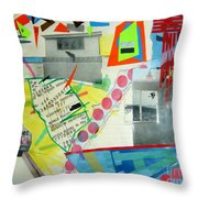 Collage 444 Throw Pillow