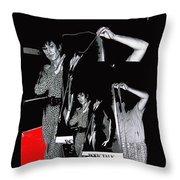 Collage Body Talk Poster Prize Jello Wrestling Contest Gay Bar Tucson Arizona 1992 Throw Pillow