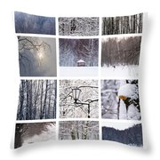 Collage February - Featured 3 Throw Pillow