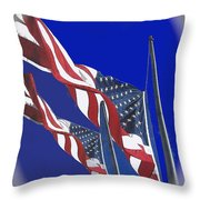 Collage Half Mast Flag Honoring President Ronald Reagan Number 2 Casa Grande Az  2004-2013 Vignetted Throw Pillow