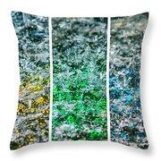 Collage Liquid Rainbow 1 - Featured 3 Throw Pillow
