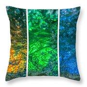 Collage Liquid Rainbow 4 - Featured 3 Throw Pillow