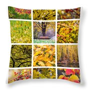 Collage October - Featured 3 Throw Pillow