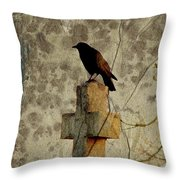 Collage Of Crow Throw Pillow