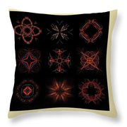 Collage Of Fractals Throw Pillow