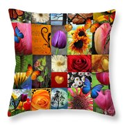 Collage Of Happiness  Throw Pillow