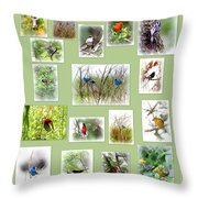 Collage Of Migration Shots-  5 Throw Pillow