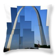 Collage Of St Louis Arch Throw Pillow