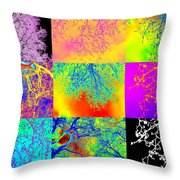 Collage Of Trees Throw Pillow
