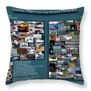 Collage Photography Services Throw Pillow