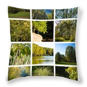 Collage September - Featured 3 Throw Pillow