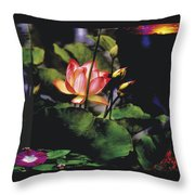 Sunset Lily Throw Pillow
