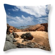 Collapsed Natural Bridge Aruba Throw Pillow