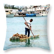 Collecting Conch Throw Pillow