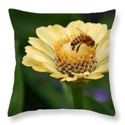 Collecting Nectar Throw Pillow