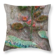 Collecting Old Trees Throw Pillow