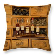 Collection Of Wines And Armagnac Throw Pillow