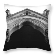 College Hall Entry - Black And White Throw Pillow