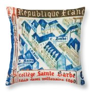 College Of St. Barbe 1460-1960 Half A Millennium Throw Pillow