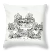 College Of William And Mary Throw Pillow