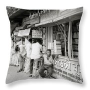 College Street Calcutta  Throw Pillow