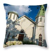College Street Playhouse Throw Pillow
