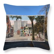 College Street To Market Square In Providence Ri Throw Pillow