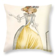 Collerette A La Henri Iv, Plate Throw Pillow