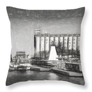 Collingwood Terminals In Old Days Throw Pillow