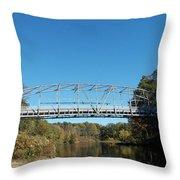 Collinsville Steel Bridge 1 Throw Pillow