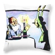 Collodi: Pinocchio/gepetto Throw Pillow