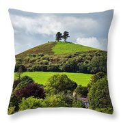 Colmers Hill At Symondsbury Throw Pillow