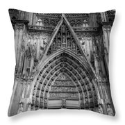 Cologne Cathedral 11 Bw Throw Pillow