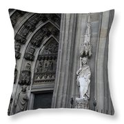 Cologne Cathedral South Side Detail 1 Throw Pillow