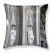Cologne Cathedral South Side Detail 2 Throw Pillow