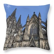 Cologne Cathedral South Side Rooflines Throw Pillow