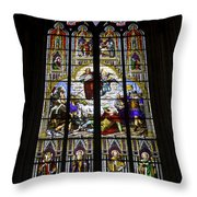 Cologne Cathedral Stained Glass Window Of St Paul Throw Pillow