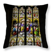 Cologne Cathedral Stained Glass Window Of St Peter Throw Pillow