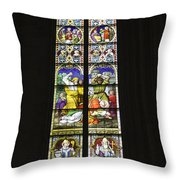Cologne Cathedral Stained Glass Window Of St. Stephen Throw Pillow
