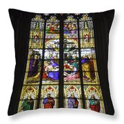 Cologne Cathedral Stained Glass Window Of The Lamentation Throw Pillow