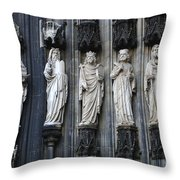 Cologne Cathedral Statuary Throw Pillow