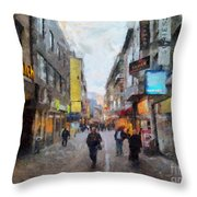 Cologne Stroll Throw Pillow