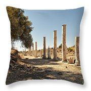 Colonaded Street In Side Turkey Throw Pillow