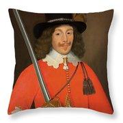 Colonel John Hutchinson, C.1643 Throw Pillow
