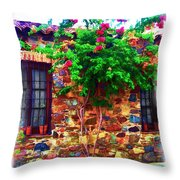 Colonia Del Sacramento Window Throw Pillow