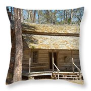 Colonial Cabin Throw Pillow